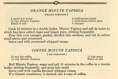 Orange / Coffee Tapioca (1923)