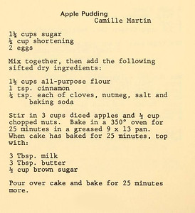 Apple Pudding