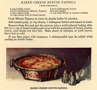 Baked Cheese Minute Tapioca (1923)