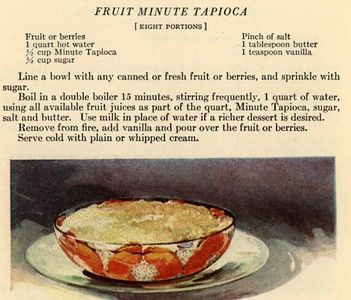 Fruit Minute Tapioca (1923)