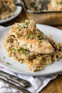 4 Ingredient Chicken and Rice Casserole