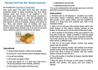Best You'll Ever Eat Mexican Casserole