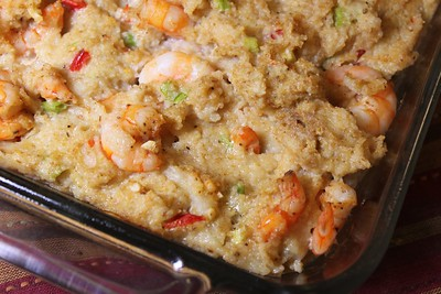 Shrimp and Grits Dressing