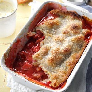 Strawberry/Rhubarb Cobbler