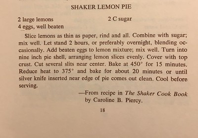 Shaker Lemon Pie (v 2.0)