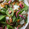 Spinach Salad with Warm Brown Butter Dressing
