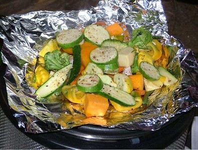 Vegetables on the Cobb Cooker