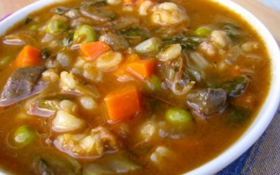 Vegetable Beef and Mushroom Barley Soup