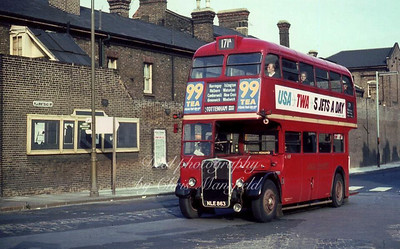 mid 1950s bus approaching Beresford square