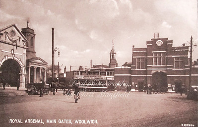 Early Postcard , Arsenal gates