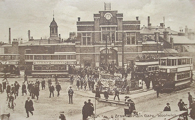Approx' 1920s. Beresford square and Arsenal gates