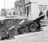April 1st 1963 . Plumstead road sink hole