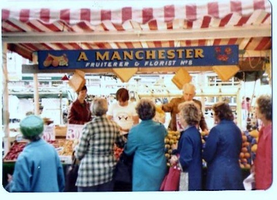Late 1970s , Albert Manchesters stall