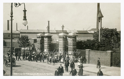 Early Postcard,  Arsenal middle gates