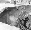 April 1st 1963.  Plumstead road sink hole