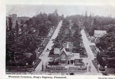 Late 1800s - early 1900s view of Woolwich Cemetery in Kings highway.