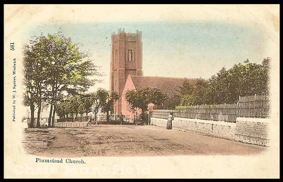 Early 'Squires ' postcard of St Nicholas church