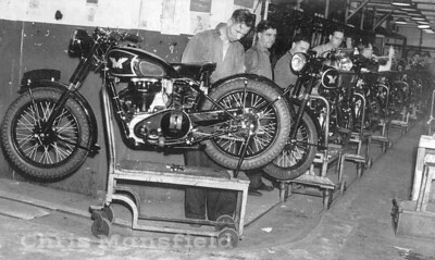 Matchless motor cycles production line