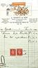 Bicycle receipt from A.Bassett, 63b Plumstead high street . June 1941