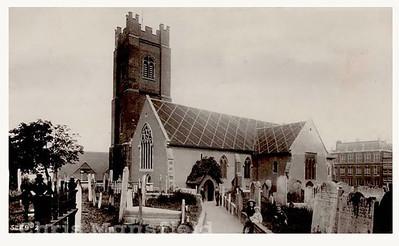 Early postcard of St Nicholas church
