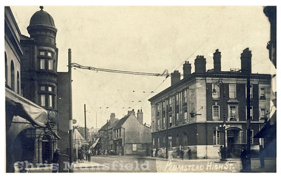 Early postcard. Plumstead high street at Lakedale junction
