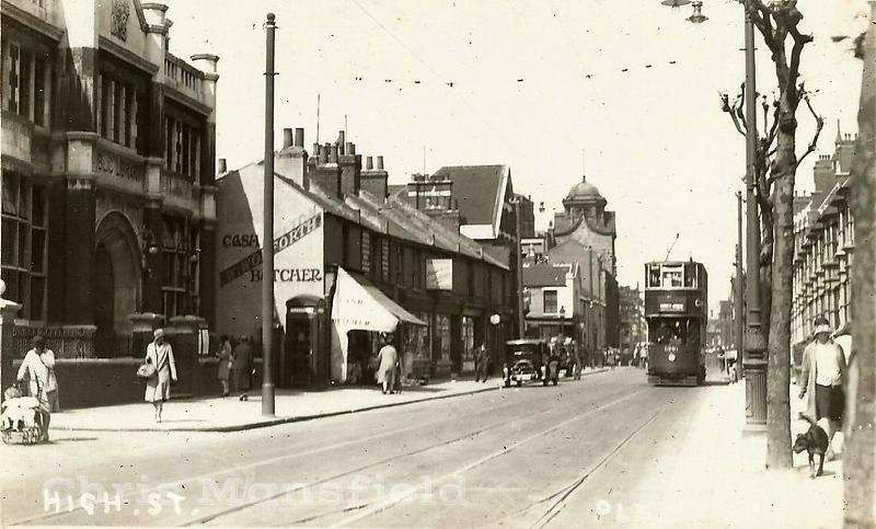 Early postcard.  Plumstead high street