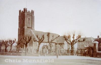 Early Postcard St Nicholas church