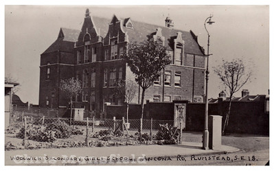 Early Postcard Ancona road school