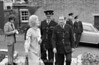 1971.  Plumstead Police station garden with Mayor Marie Kingwell