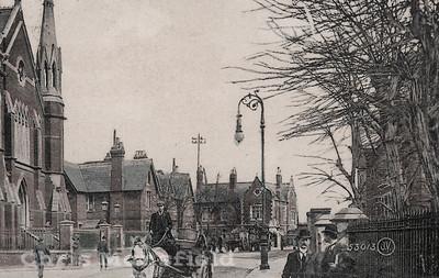 Plumstead common road with Wesleyan methodist church on left