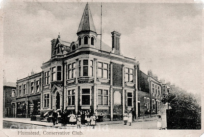 Early 1900s view of Plumstead Conservative club on Plumstead high street