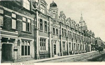 Old Postcard , Woolwich Polytechnic, Calderwood street