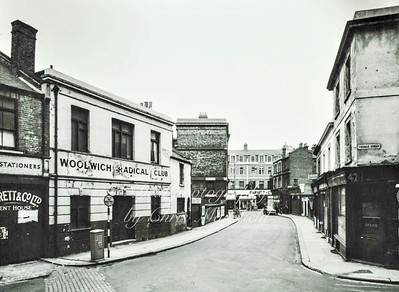 Calderwood street ,  looking towards Powis street ..