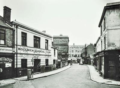 Calderwood street ,  looking towards Powis street ..