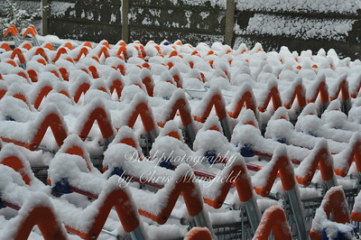 Feb 2nd 2009 .. Sainsburys trollies under snow