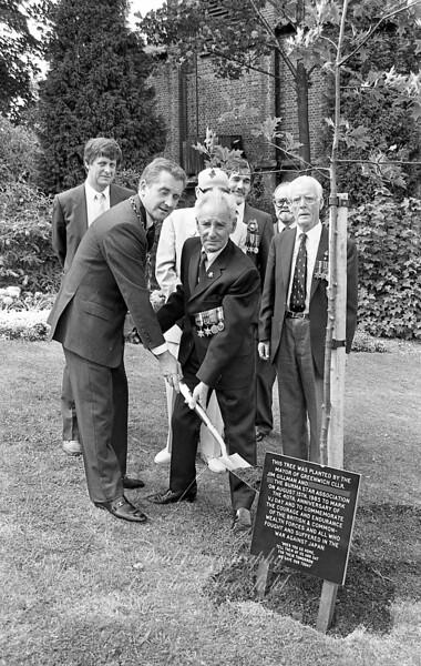 Cllr Jim Gillman and Burma star association , tree planting  .. August 15th  1985 ..VJ day