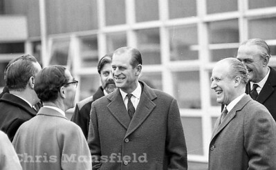 December 1968.  Prince Philip visits Thamesmead site