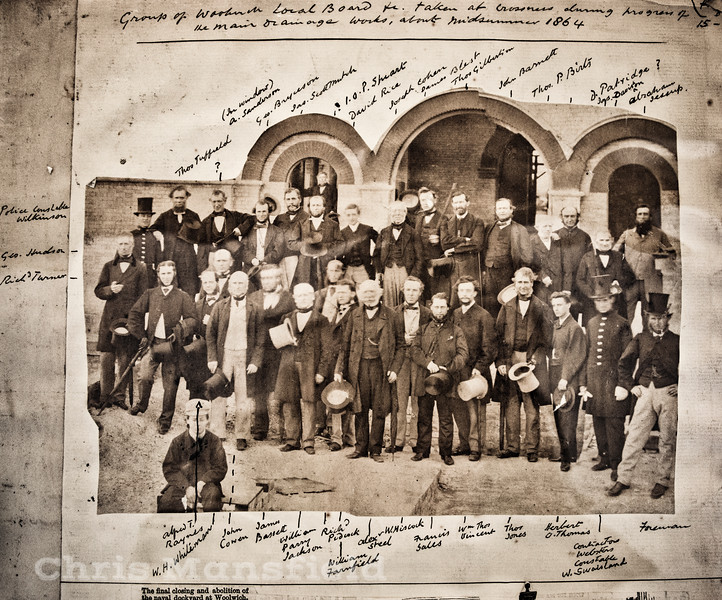 1864. Members of the Woolwich board of health visit to Crossness