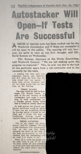 Late 1962 .. Kentish Independent story