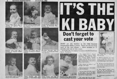 August 1984 baby competition in the Kentish Independent