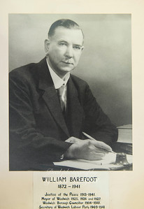 Mayor William Barefoot  1925 - 1927  two terms