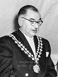 Mayor Ronald B Stucke .  1958 -1959