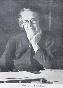 Mayor Mrs Newman. 1956-57