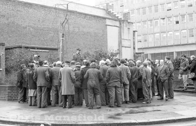 Early 1970s .  Industrial action by Power station workers