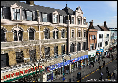 Feb' 27th 2009.  Powis street from the roof of new Look
