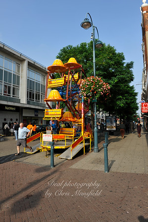 August 30th 2008.. small fairground ride on Powis street