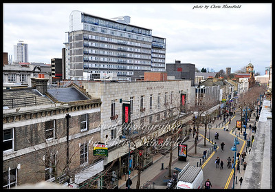 Feb 18th 2009.. Powis street from McDonalds roof