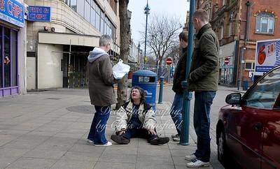 April 21st 2008.. Slightly drunk woman on Powis street