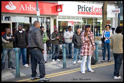 April 4th 2009.. street preachers on Powis street