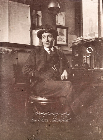 Not too sure about this one .. It was among a collection of Arsenal workers pictures from the 1920s so I an guessing it is probably an Arsenal office worker /manager ??
